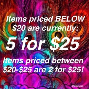 ❤️⭐️⭐️5 for $25 SALE⭐️⭐️❤️
